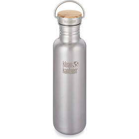 Klean Kanteen Reflect Drinkfles Bamboo Cap 800ml zilver